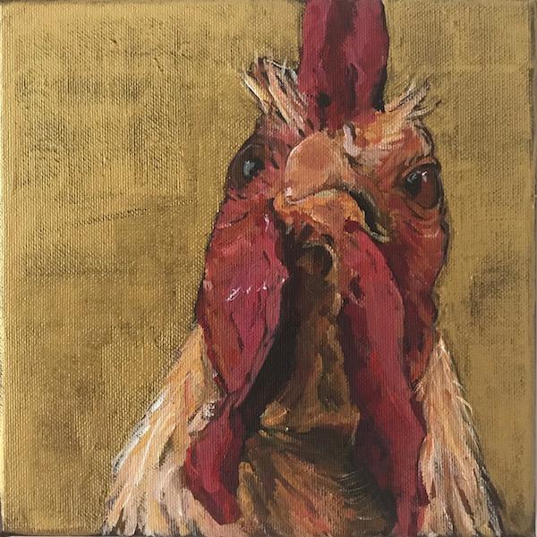 Tierportrait Hahn #2012-26