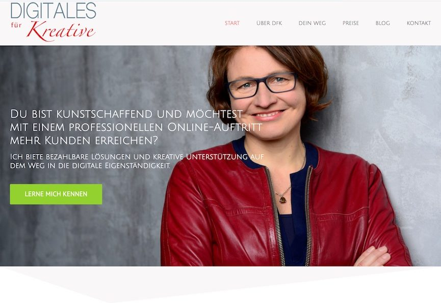 Website Digitales für Kreative
