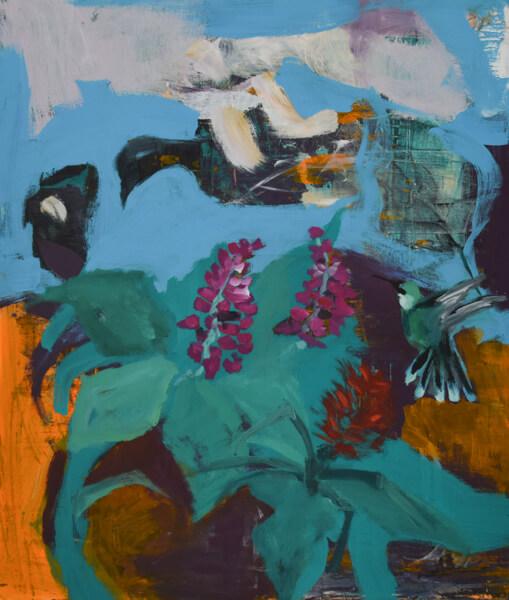 Überflieger, Acrylmalerei